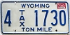 1982 Wyoming Ton Mile Tax #4-1730