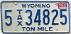 1982 Wyoming Ton Mile Tax #5-34825
