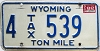 1982 Wyoming Ton Mile Tax #4-539
