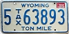 1982 Wyoming Ton Mile Tax #5-63893