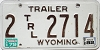 1982 Wyoming Trailer # 2714, Laramie County