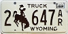 1982 Wyoming Truck #647AR, Laramie County
