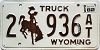1982 Wyoming Truck #936AT, Laramie County