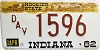 1982 Indiana Disabled Veteran graphic # 1596
