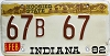1982 Indiana Hoosier graphic # 67B67
