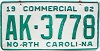 1982 North Carolina Commercial # AK-3778
