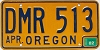 1982 Oregon license license plate # DMR-513