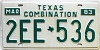 1983 Texas Combination # 2EE-536