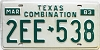 1983 Texas Combination # 2EE-538