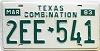 1983 Texas Combination # 2EE-541