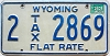 1983 Wyoming Flat Tax Rate #2869
