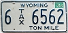 1983 Wyoming Ton Mile Tax #6-6562