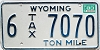 1983 Wyoming Ton Mile Tax #6-7070