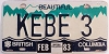 1983 British Columbia Vanity graphic # KEBE 3