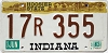 1983 Indiana Hoosier graphic # 17R355