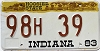 1983 Indiana Hoosier graphic # 98H39