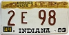 1983 Indiana Hoosier graphic # 2E98