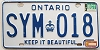 1983 ONTARIO Keep It Beautiful license plate # SYM-018