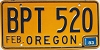1983 Oregon license license plate # BPT-520