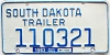 1983 South Dakota Trailer # 110321, Mellette County