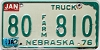1984 Nebraska Farm Truck # 810, Sioux County