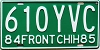 1984 Front Chihuahuh MEXICO license plate # 610-YVC