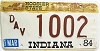 1984 Indiana Disabled Veteran graphic # 1002