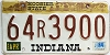 1984 Indiana Hoosier graphic # 64R3900