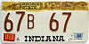 1984 Indiana Hoosier graphic # 67B67