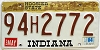 1984 Indiana Hoosier graphic # 94H2772