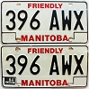1984 Manitoba friendly pair # 396-AWX