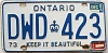 1984 ONTARIO Keep It Beautiful license plate # DWD-423