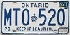 1984 Ontario Keep It Beautiful # MTO-520