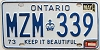 1984 ONTARIO Keep It Beautiful license plate # MZM-339