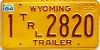 1984 Wyoming Trailer # 2820, Natrona County