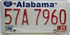 1986 ALABAMA license plate # 57A7960, Russell County