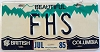 1985 British Columbia Vanity graphic # FHS