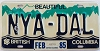 1985 British Columbia Vanity graphic # NYA-DAL