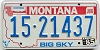 1985 Montana Bicentennial graphic # 15-21437, Lake County