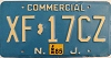 1985 NEW JERSEY Commercial license plate # XF-17CZ