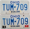 1985 Ohio pair # TUM-709