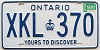 1985 ONTARIO Yours To Discover license plate # XKL-370