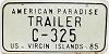 1985 US Virgin Islands Trailer # C-325