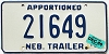 1986 Nebraska Apportioned Trailer # 21649