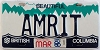 1986 British Columbia Vanity graphic # AMRIT