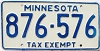 1986 Minnesota Tax Exempt # 876-576