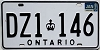 1986 ONTARIO Commercial license plate # DZ1-146