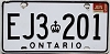 1986 ONTARIO Commercial license plate # EJ3-201