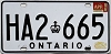 1986 ONTARIO Commercial license plate # HA2-665