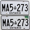 1986 Ontario Commercial pair # MA5-273